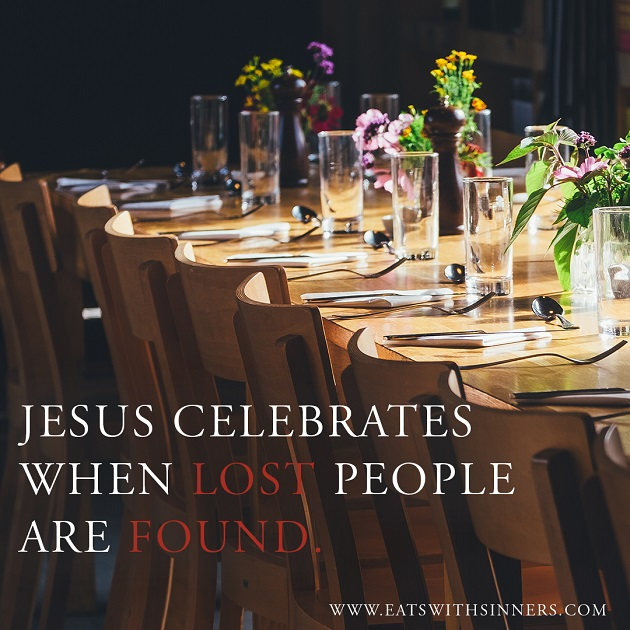 jesus celebrates when lost people are found